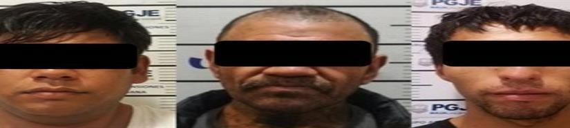 Tres sujetos a prisión preventiva por robo de vehículos