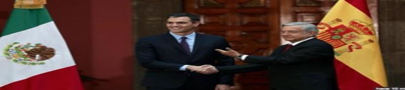 Recibe AMLO al Presidente del Gobierno de España