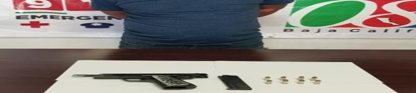 Arresta PEP a sujeto armado en la Colonia Azteca