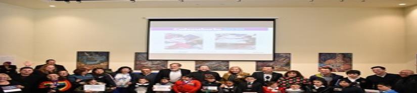 Entrega de premios y reconocimientos a los niños ganadores
