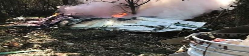 Desplome de avioneta en Atizapán deja dos muertos