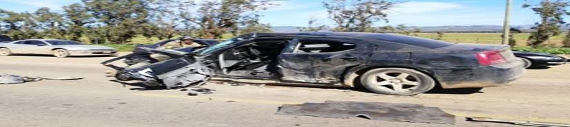 Un prensado en accidente automovilístico en San Quintín