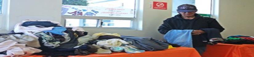 Mantiene el DIF centro de acopio de ropa invernal