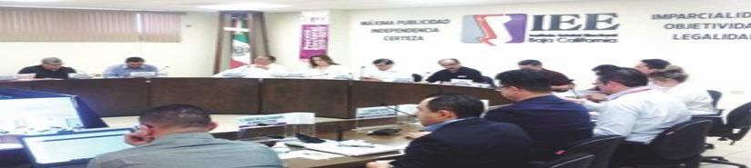 Consejo General del IEEBC, entrega constancia de registro a los 6 candidatos a la gubernatura