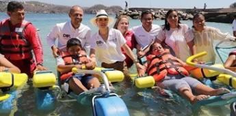 Playa La Entrega, la primera adaptada para personas con discapacidad