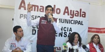 Armando Ayala se propone atender de fondo el tema de la seguridad; en su inicio de campaña