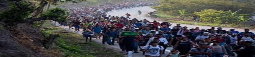 Reanudan caminata unos 3 mil migrantes