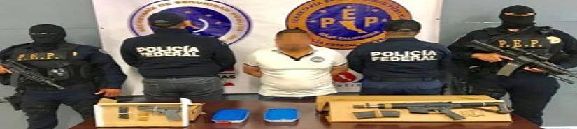 """Capturan PEP y PF a """"El Marlon"""" identificado como brazo ejecutor de grupo delincuencial que opera en zona costa"""