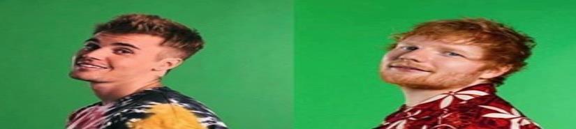 Justin Bieber y Ed Sheeran planean una colaboración musical (VIDEO)