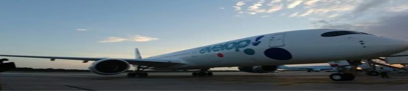 Aterriza en Cancún uno de los aviones más modernos del mundo (VIDEO)