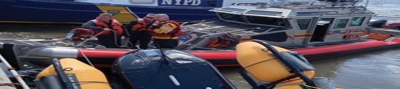 Helicóptero aterriza de emergencia sobre el río Hudson en Nueva York (VIDEO)