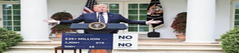 Trump enfurece y declara guerra a demócratas