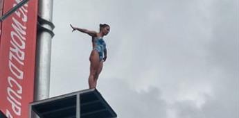Adriana Jiménez, bronce en Copa Mundial de clavados de altura