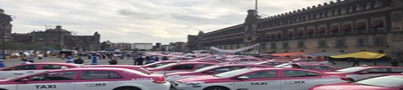 Taxistas protestan en la México-Querétaro contra Uber y Cabify