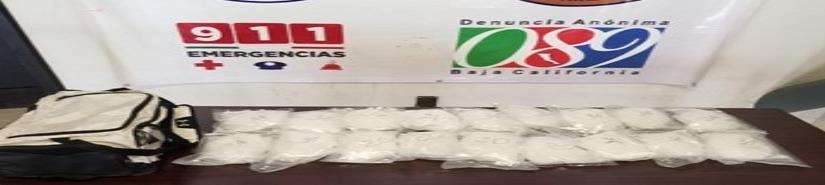 Incauta PEP ocho kilos de mentafetamina en Tijuna