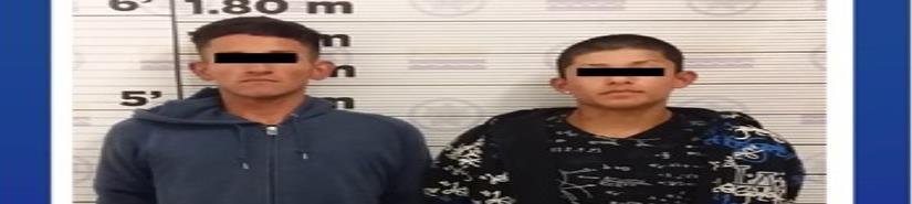 Agentes municipales detienen a dos hombres por presunto robo con violencia