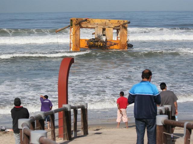 Realizan labores para rescatar plataforma