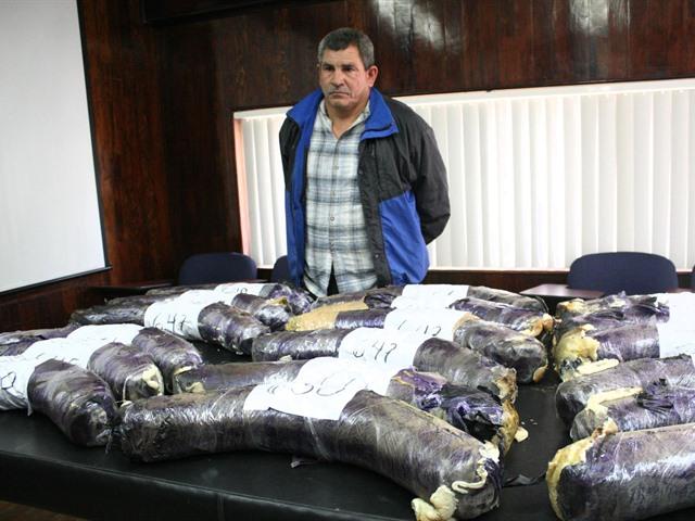 Tractocamión traía droga en las llantas