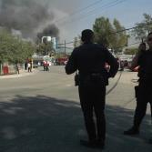 Incendio en fábrica de residuos