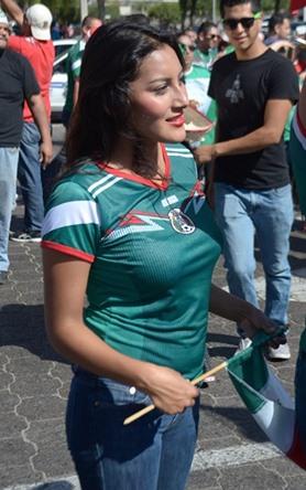 La belleza en los festejos por el triunfo de México