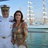 Llegada a Ensenada del buque Cuauhtémoc