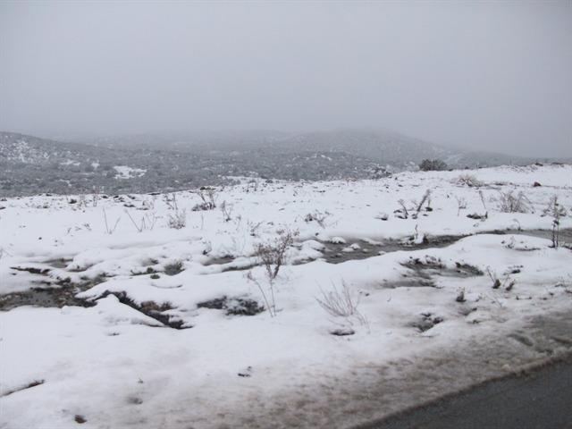 Nevada en La Rumorosa
