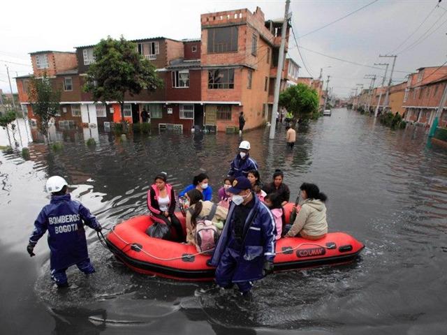 Bogotá bajo el agua