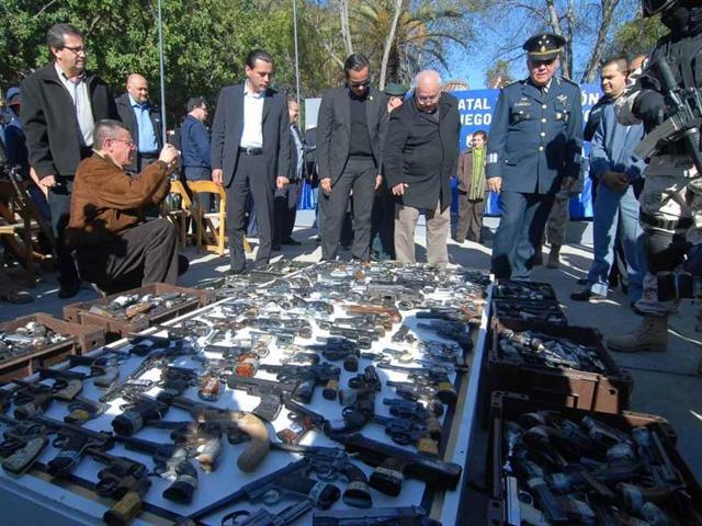 Destruyen 2,138 armas de fuego en BC