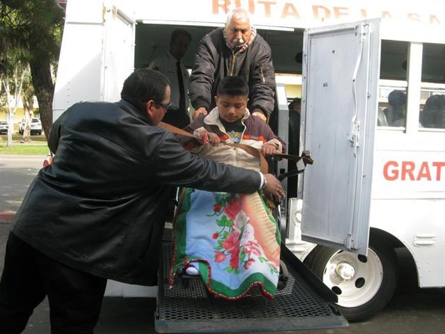 Trasporte gratuito para los discapacitados, en el HG