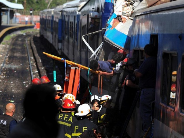 Choque de tren en Argentina