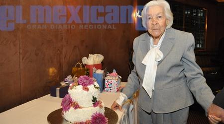 Celia Gaviño festeja 100 años