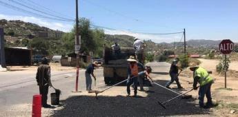 Programa de Bacheo a las colonias Bella Vista, Cucapah y Calzada Cortez