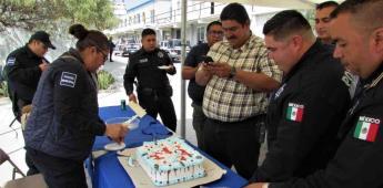 Celebran a policías  municipales por motivo del Día del Padre