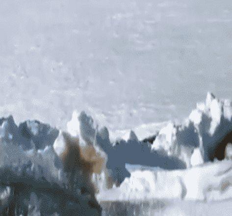 Captan en video tsunami de hielo en río de Rusia (VIDEO)