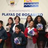 Alumnos participantes en la Semana Tematica del Niño y el Periodismo