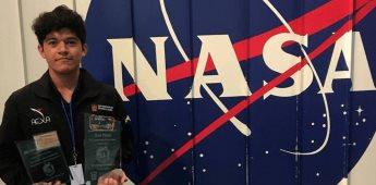 Estudiante mexicano es elegido para ir a la NASA por tercera ocasión