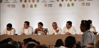 Firman 9 gobernadores el Pacto Oaxaca