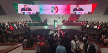 Alejandro Moreno rinde protesta como nuevo líder nacional del PRI