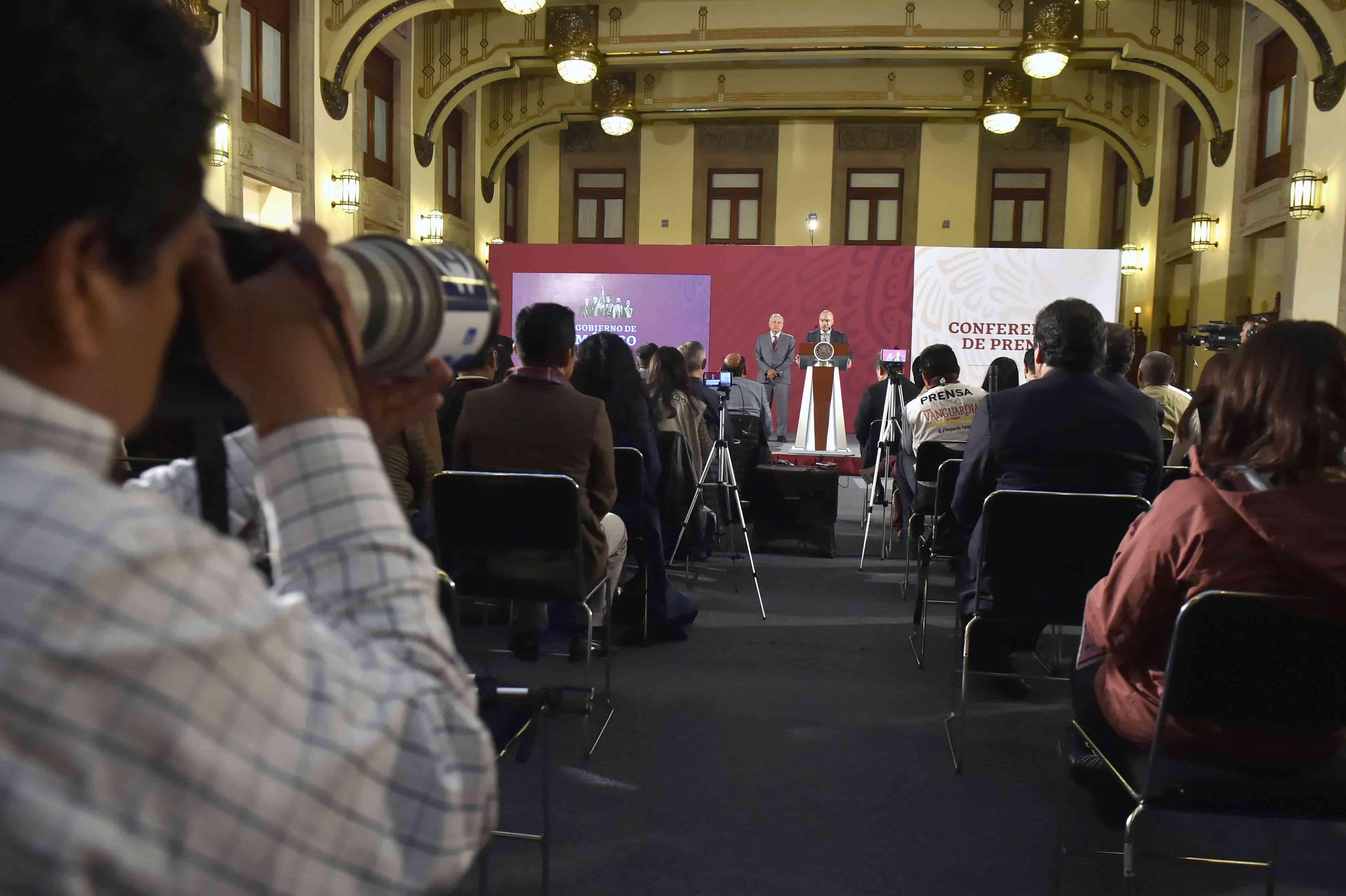 Miércoles 21 de agosto 2019. Conferencia de prensa matutina. Salón de la Tesorería, Palacio Nacional
