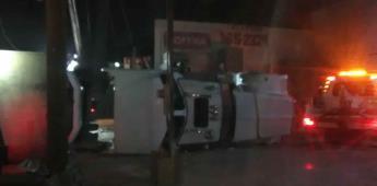 Atienden Autoridades 2 volcaduras en la carretera transpeninsular