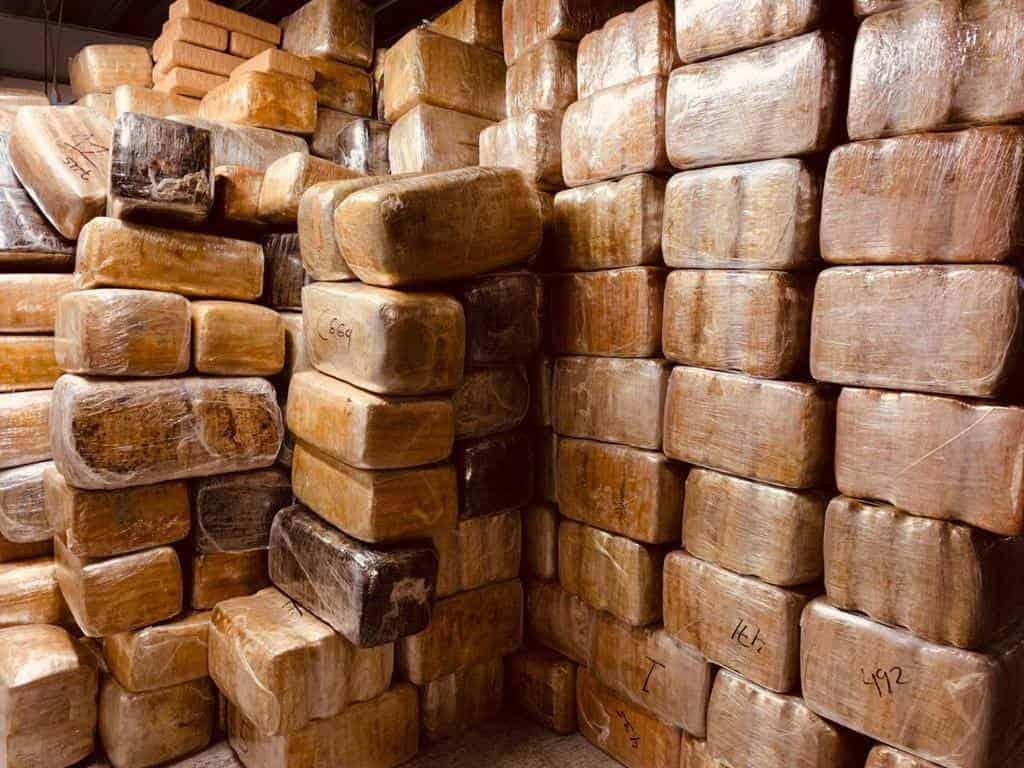 Son 9 toneladas de marihuana las confiscadas