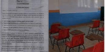 Continúan varios alumnos de educación básica sin clases