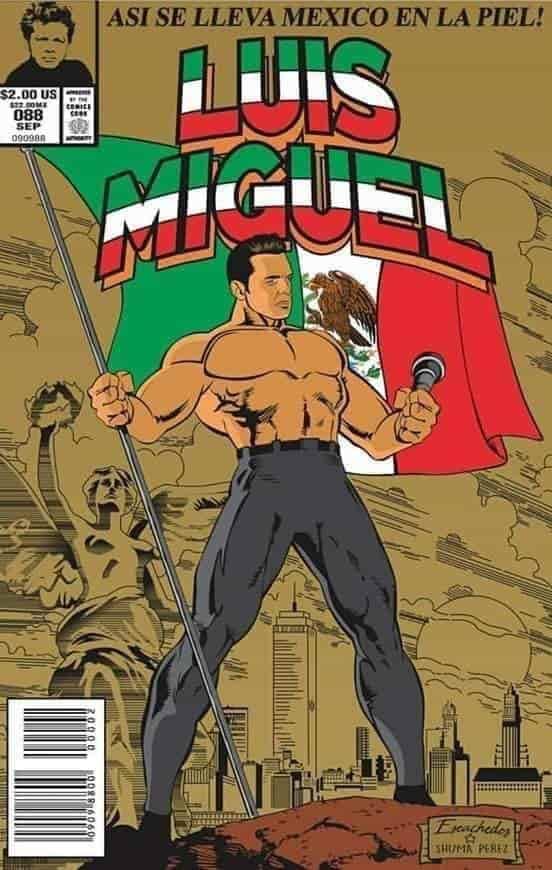 Cantantes mexicanos al grito de los cómics.