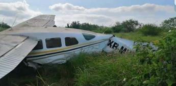 Aeronave se desploma tras sufrir fallas