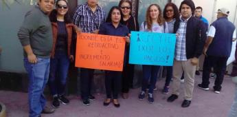 Reclama SINPOT pagos a maestros y administrativos de CECYTE BC