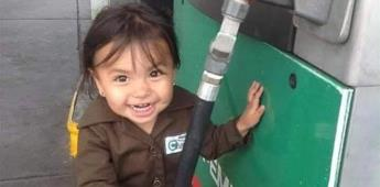 Se vuelve viral niña gasolinera en Guadalajara