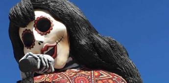 Elaboran catrina de Selena Quintanilla en San Antonio