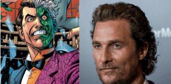 Portales indican que Matthew McConaughey será Dos Caras