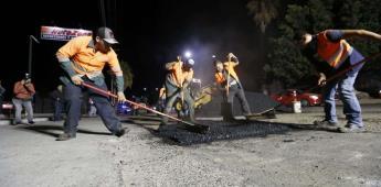 Rehabilita Ayuntamiento más de 23 mil metros cuadrados de vialidades en octubre