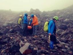Rescatan a alpinista en Orizaba